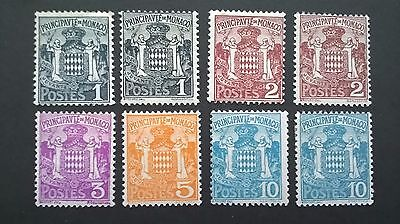 Monaco stamps 1924 issues - mint light hinged