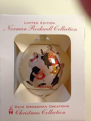 Norman Rockwell Collection Dave Grossman Creations Ball Ornament 1998 Free Ship