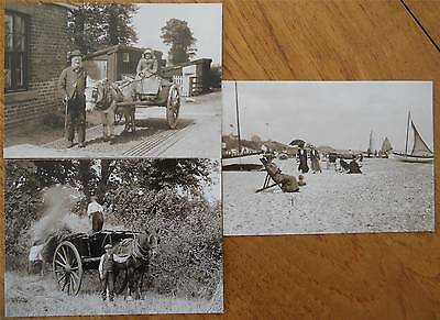 3 REPRODUCTION PHOTO POSTCARDS of ENGLISH SCENES from 1900s