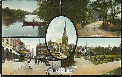 """""""chesterfield"""" Old Postcard - Posted 1908"""