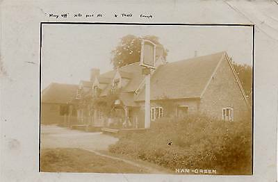 OLD REAL PHOTO POSTCARD of THE CROOKED BILLET, HAM GREEN (BUCKS. NOW THE AKEMAN)