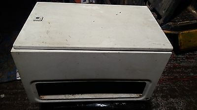 Steel electrical enclosure box, 600mm x 380 x 350 new but  needs a clean.488