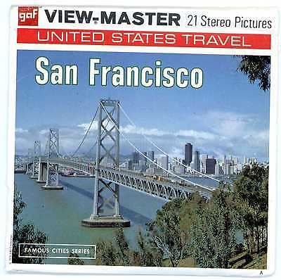 SAN FRANCISCO Viewmaster Famous Cities Series -  A 166