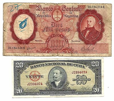 South & Central America 2 Banknotes