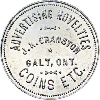 Galt Ontario Canada Good For Token J K Cranston Coins One Dollar