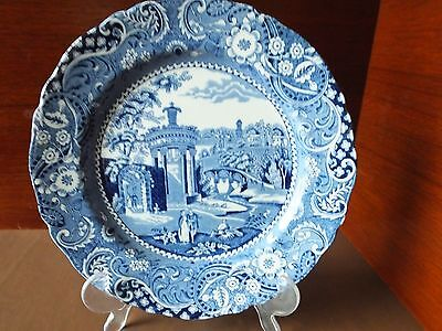 "A W R Midwinter Blue & White "" Landscape "" Plate 9"" Diameter"