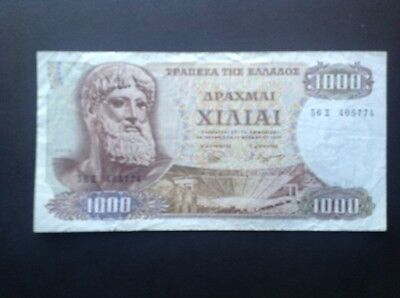 Greece banknote for 1000 Drachmai dated 1970.