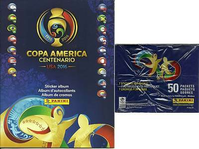 2016 Panini COPA America Centenario Soccer Stickers New 50 Pack Box w/FREE ALBUM