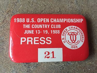 Stunning 1988 US Open Press Badge From The Country Club Brookline
