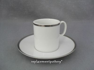 Thomas Medallion Platinum - Broad band Coffee Cup & Saucer