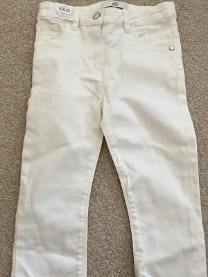 White Denim Cropped Jeans 5-6 Years M&S