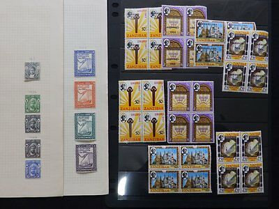 Zanzibar M/mint Stamps On Page/stock Card (As2)