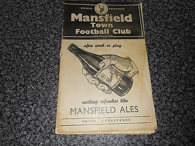 MANSFIELD TOWN   v  DERBY COUNTY  1956/7  DIVISION 3 NORTH ~ OCTOBER 20th