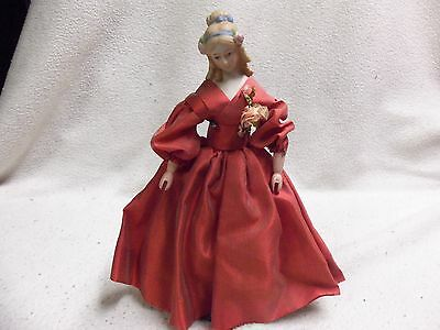 """Vintage Bisque Porcelain Doll With Clothespin Hands 10"""""""
