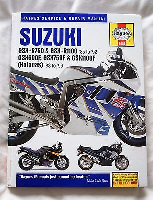 Suzuki GSX-R750 & GSX-R1100 1985 to 1992 Haynes motorcycle workshop manual