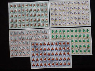 """Korea 1990 """"farm Animals"""" Stamp Set In 5 Sheets Of 40 Stamps Sgn2997-3001"""