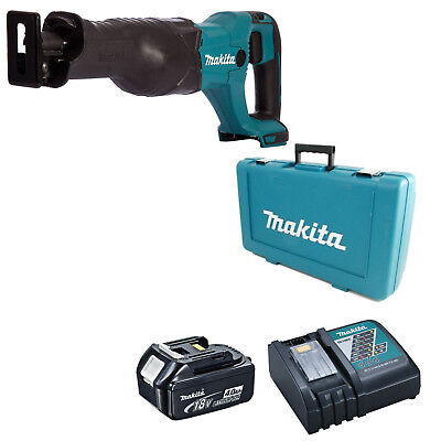 Makita 18V Djr186 Reciprocating Saw Bl1840 Battery Dc18Rc Charger & Case
