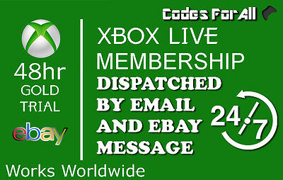 Xbox Live Gold 48Hr 2 Day Trial Code Instant Dispatch - 48 Hour 2 Days 48 Hours