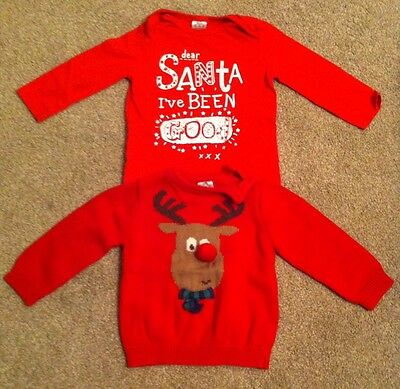 baby christmas jumper & long sleeve top 6-9 months