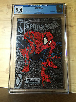 Spider-Man #1 (Aug 1990, Marvel) CGC 9.4 Silver Edition Lizard appearance
