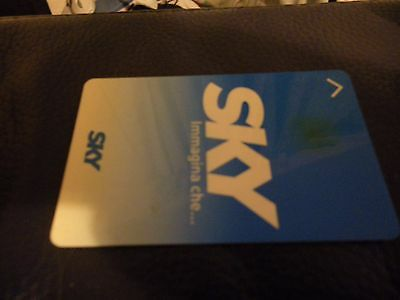 Sky Italy satellite viewing card