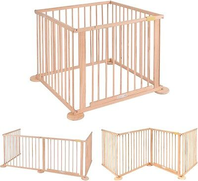 Safety Baby Play Pen Wood Fence Indoor Home Kid Divider Toy Folding Kids Playpen