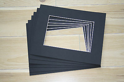 """10 Professional Picture Framing Mat Boards 8"""" x 10"""" with 5"""" x 7"""" Window"""