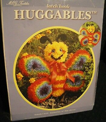"""MCG Textiles Latch Hook HUGGABLES #36119 BUTTERFLY 16"""" Wide  NEW"""