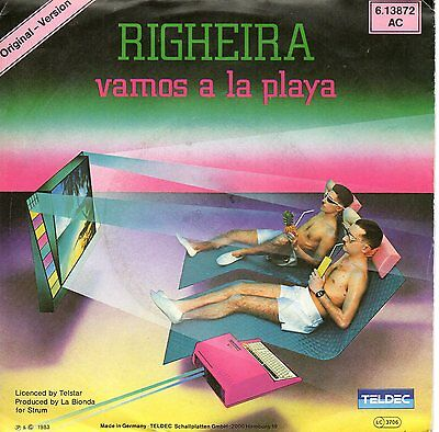 "RIGHEIRA - Vamos a la Playa - Playa dub - teldec 7"" germany"