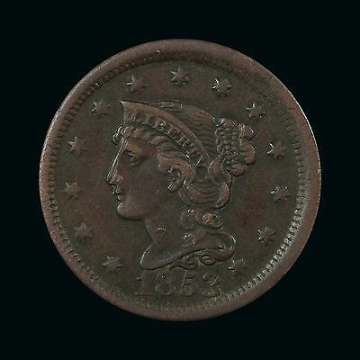 1853 Half Cent - Nice Bold Xf Priced For Quick Sale! (Vl2173)