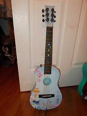 Cinderella Disney Kids Guitar-Blue W/ Image-First Act-Missing String-Very Cool!