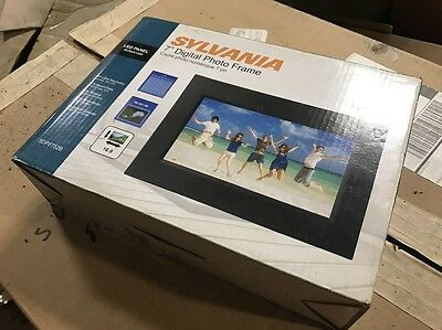 sylvania 7 black digital photo led frame sdpf752b