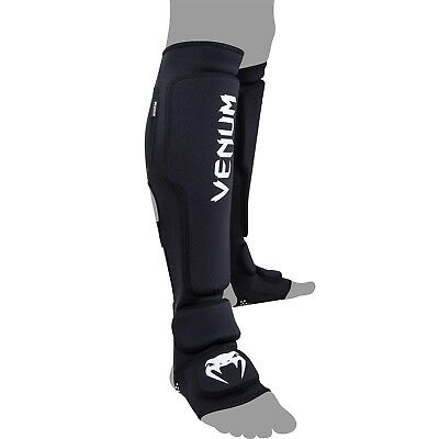 Venum Kontact Evo Shin and Instep Guards (Black) - mma sparring shinguards