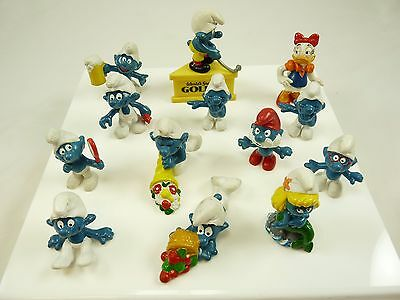 Mixed Lot of Vintage SMURF Figures