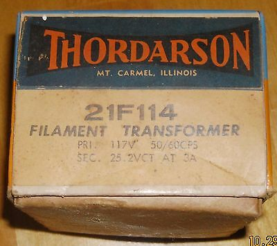 Thordarson 21F114 Filament Transformer New In Box