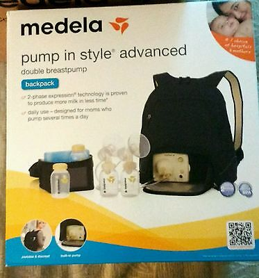 New Factory Sealed Medela Pump In Style Advanced Double Breastpump with Backpack