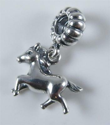 Authentic Genuine Pandora Silver Horse Dangle Charm  791099