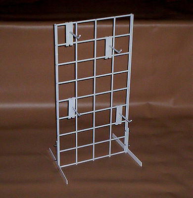 """White COUNTERTOP RACK Store Display 12"""" x 24"""" 3"""" OC Grid Home Office New!"""