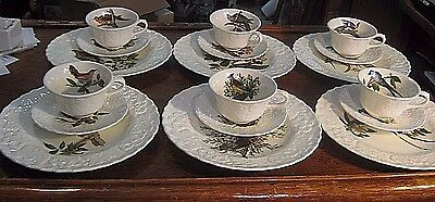 6 Sets Birds Of America  Alfred Meakin Plate Cup Saucer National Audubon Society