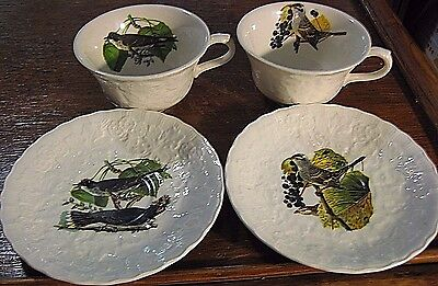 2 Sets Of Birds Of America  Alfred Meakin  Cup & Saucer National Audubon Society
