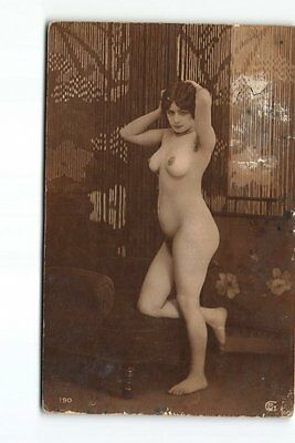 French Erotic Nude Woman Real Photo Postcard RPPC Blank Back (Paris) Risque