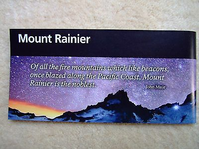 MOUNT RANIER NATIONAL PARK Brochure CENTENNIAL PASSPORT STAMP + 3 Washington