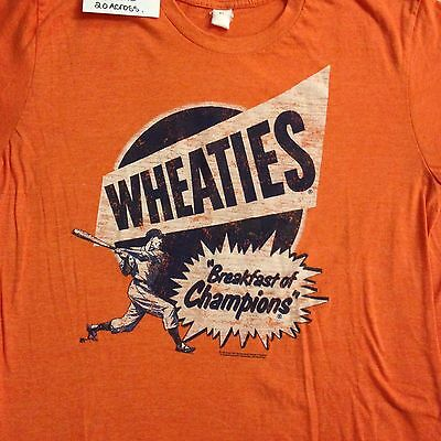 "General Mills T shirt"" Wheaties"" 27 by 20..Large.Baseball!"