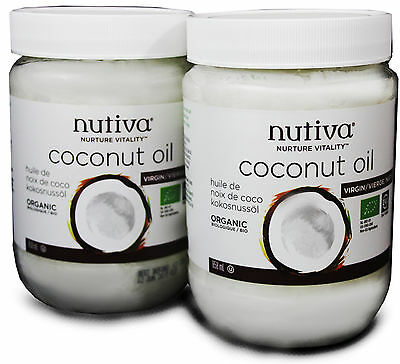 Nutiva Organic Coconut Oil TWIN PACK 858ml+858ml