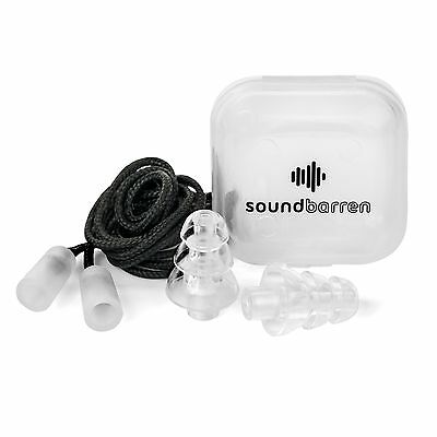 SoundBarren Noise Reducing Ear Plugs, 1 Reusable Pair, 28dB Hearing Protectio...