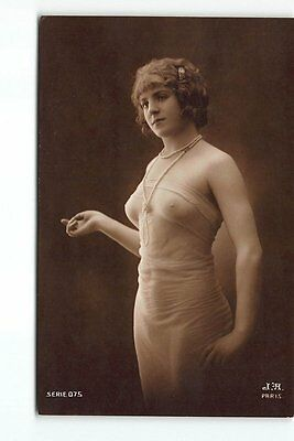 Wonderful Erotic French Nude Woman Real Photo Postcard -RPPC Shher Lingerie