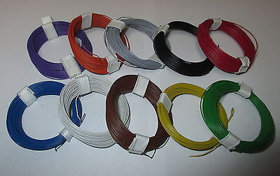 [0,1695€€/m] Copper - Stranded wire extra thin 0,04 mm² 10 Rings a 10 Meter NEW