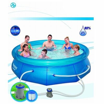 New 10 ft Inflatable Swimming Pool Kids Outdoor Above Ground Free Postage