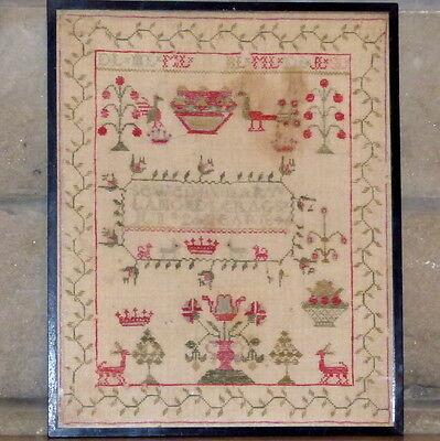 Early Victorian Motif Sampler Dated 1844