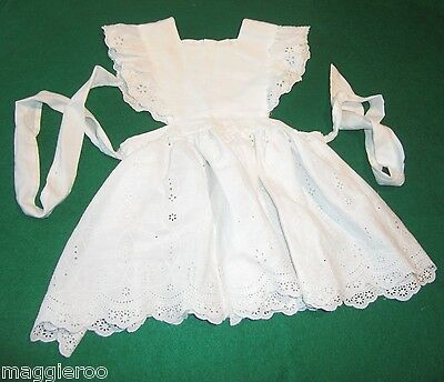 White Eyelet Ruffled Baby Toddler Pinafore in about size 12-18 months